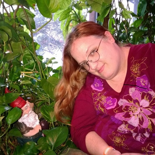 garden gnome photo bomb