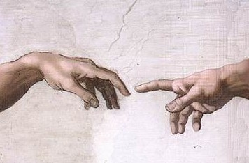 hand of God touching Adam's